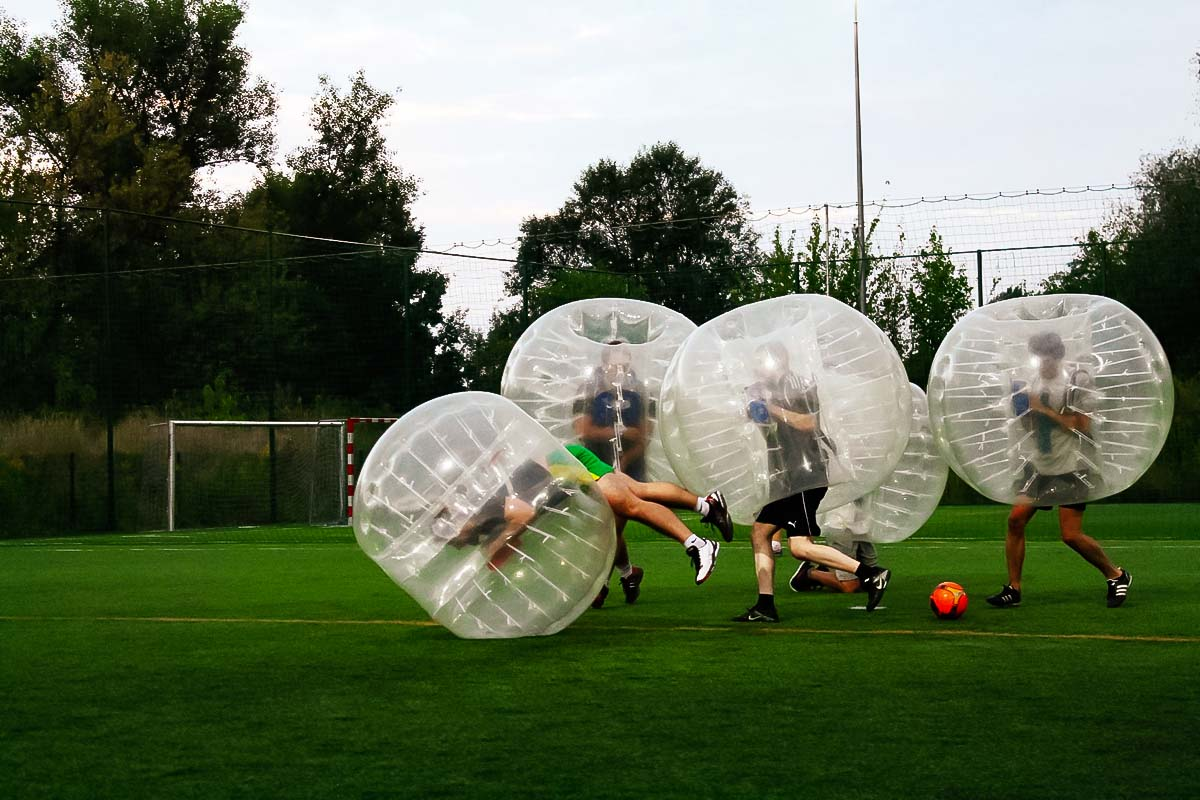 BUBBLE FOOTBALL IN WARSAW • XperiencePoland.com • BOOK NOW! Rolling Soccer Ball