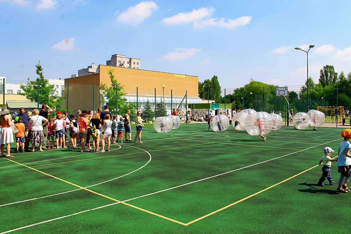 Our pitch for the cheap activity in warsaw which is bubble football
