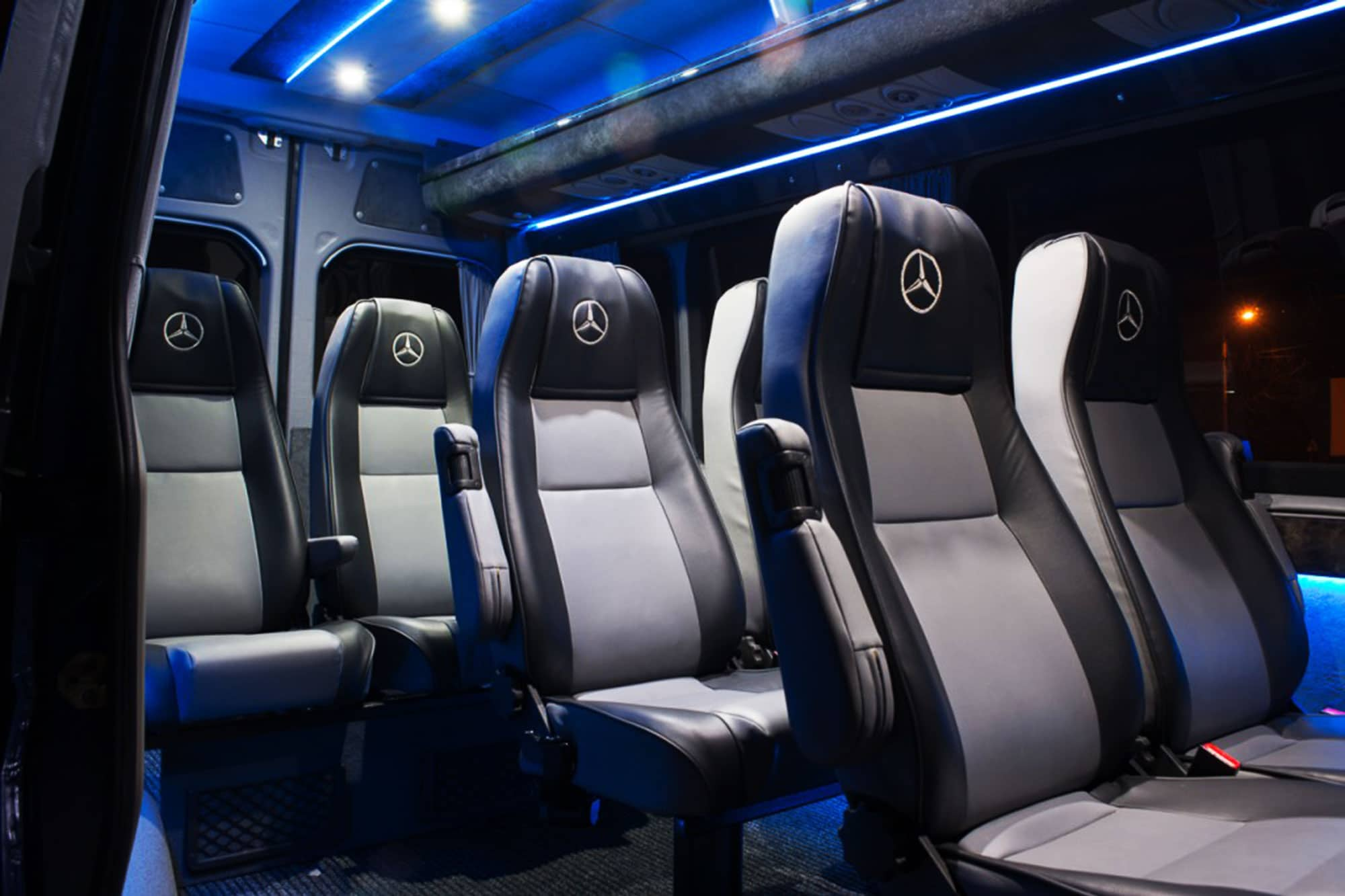 Comfortable seats in a fresh new modlin transfer