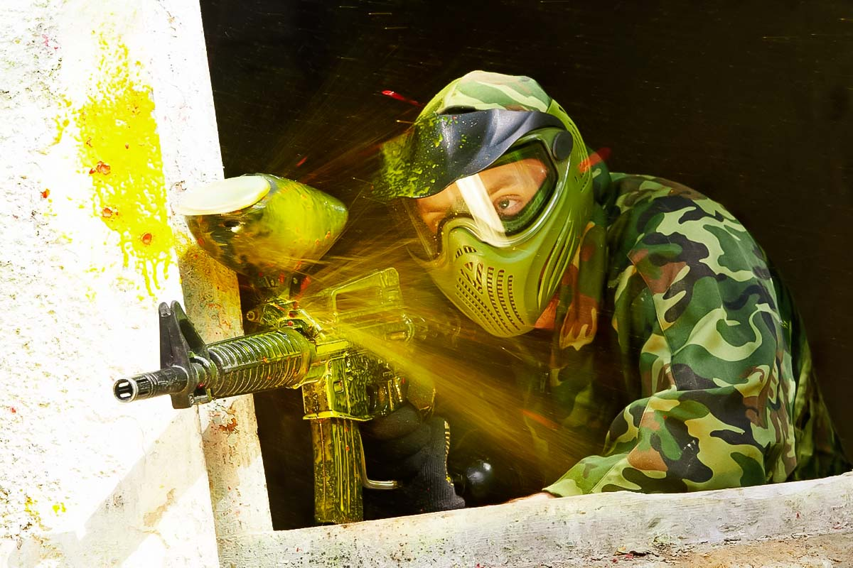 Paintball is a cool way to spend a bachelor weekend at in Warsaw