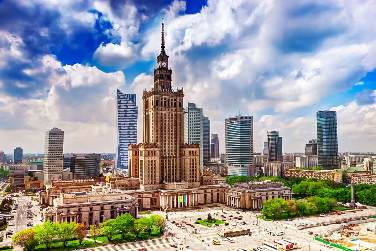 Souvenir from the Stalin is the main attraction in the center of Warsaw