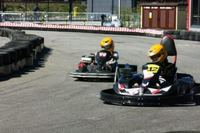 Race against your friends on a stag do activity go-karts grandprix Gdansk