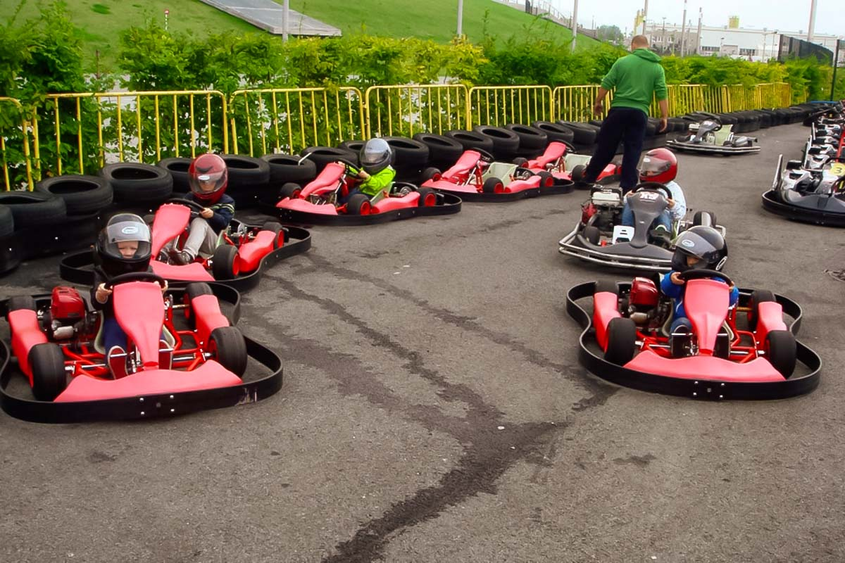 Not only big men can race but also small kids, we invite you all to race at go karts in gdansk