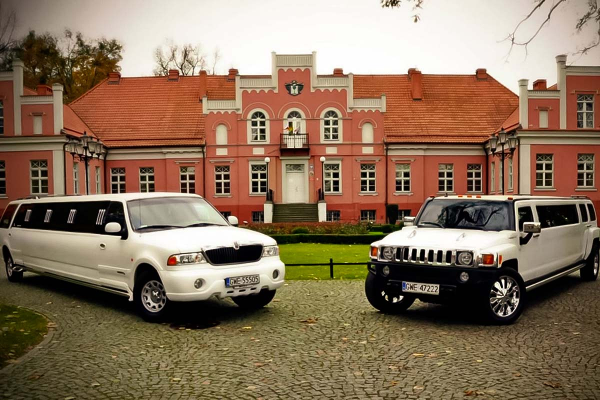 Two of our premium limousine for airport transfers from Gdansk airport