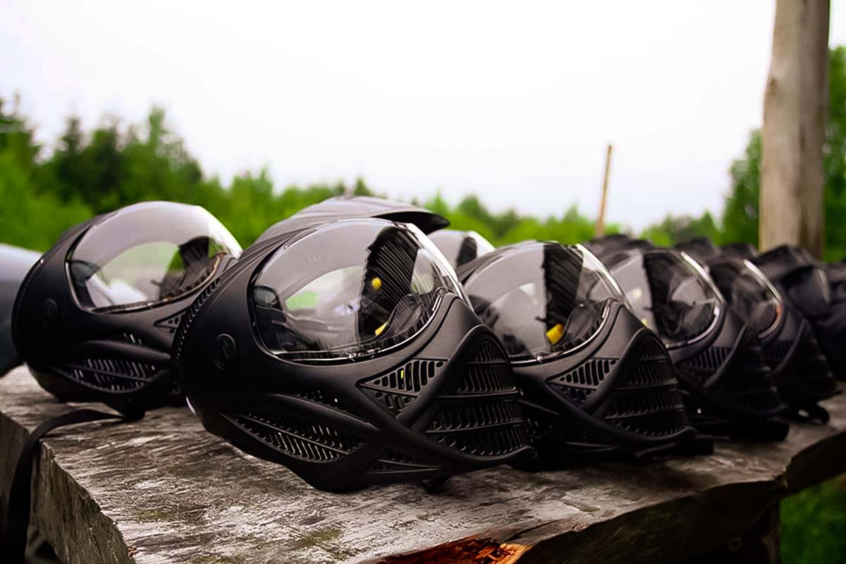 Cover your face with masks to make the Paintball Gdansk a safe experience