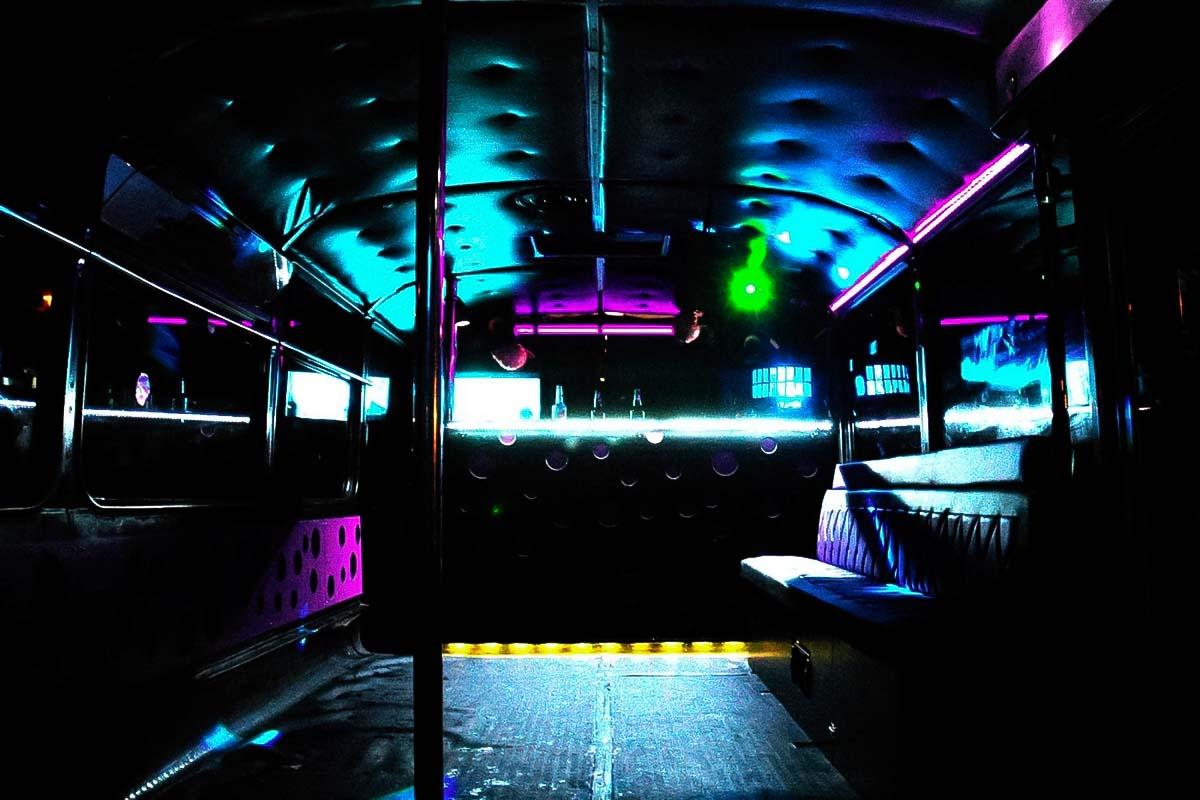 Diseño de interiores de nuestro Gdansk Party Bus