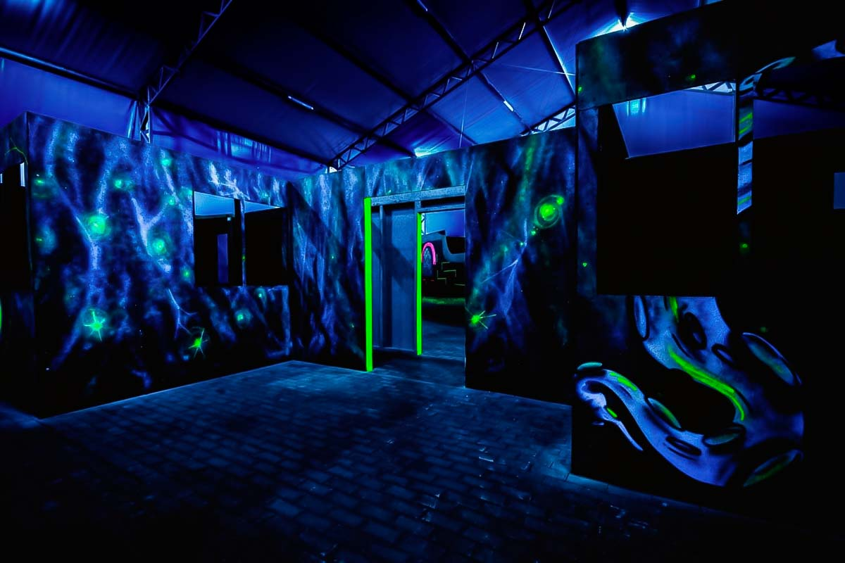 Our laser tag venue in Warsaw is quite scary