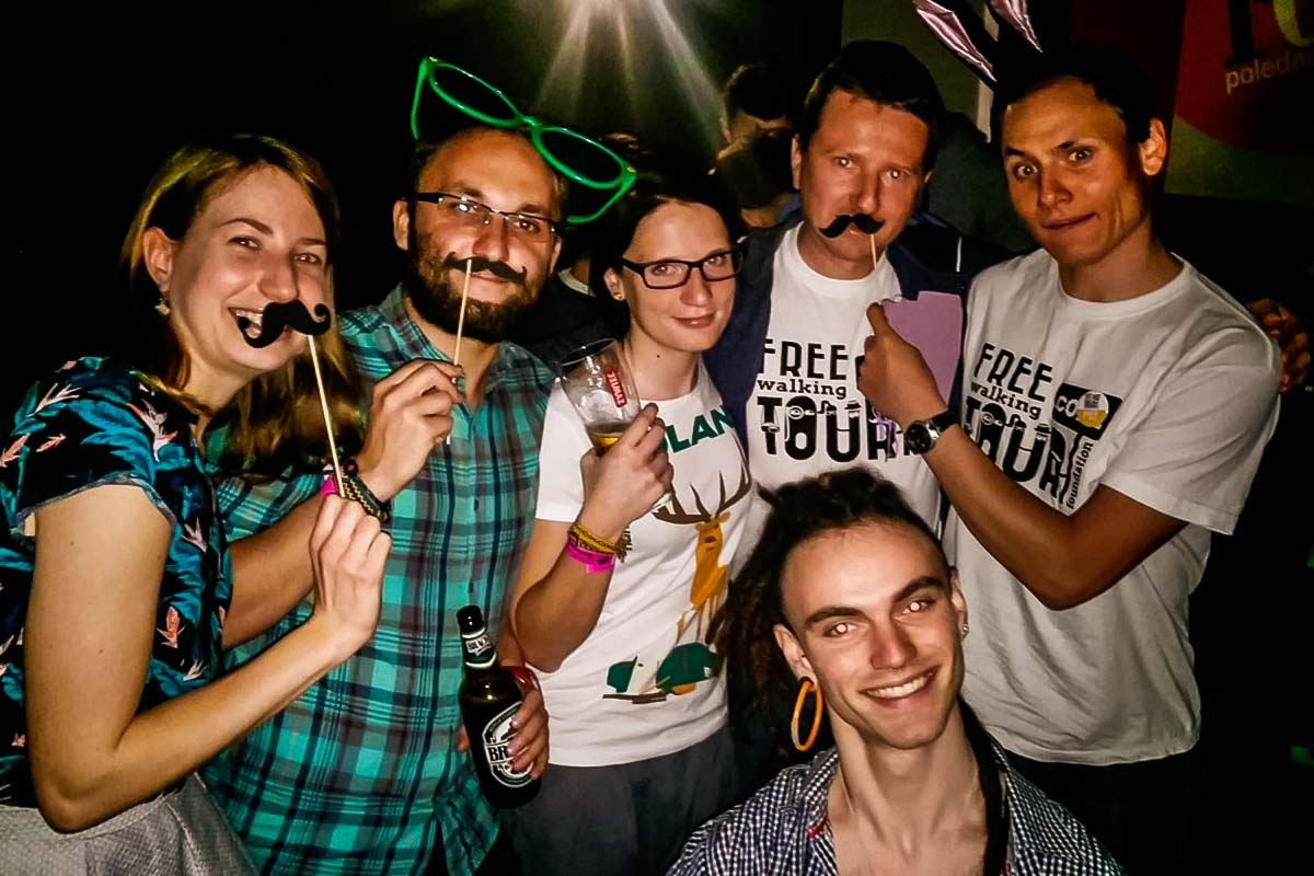 Our friends from Free Walking Tour joined us one night to party together