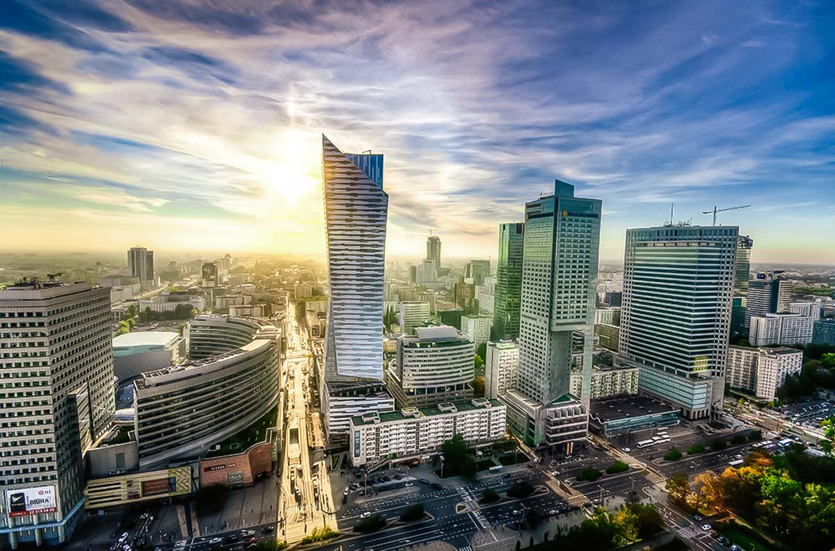 Warsaw has a modern city center