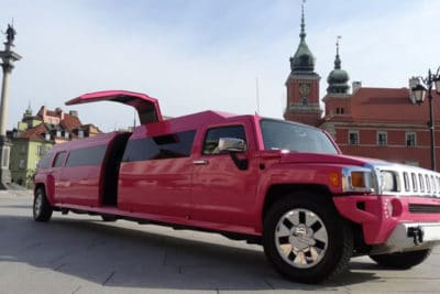 This is the best pink limousine in warsaw for big hen party groups