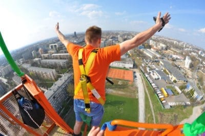 Go dangerous and do something crazy. Bungee jumping is a must-do when you are on a bachelor party in Krakow.