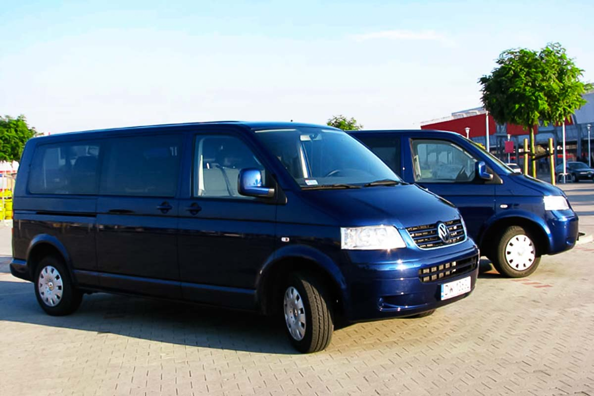 Pick a private minibus for your group to get from a Wroclaw airport to your destination