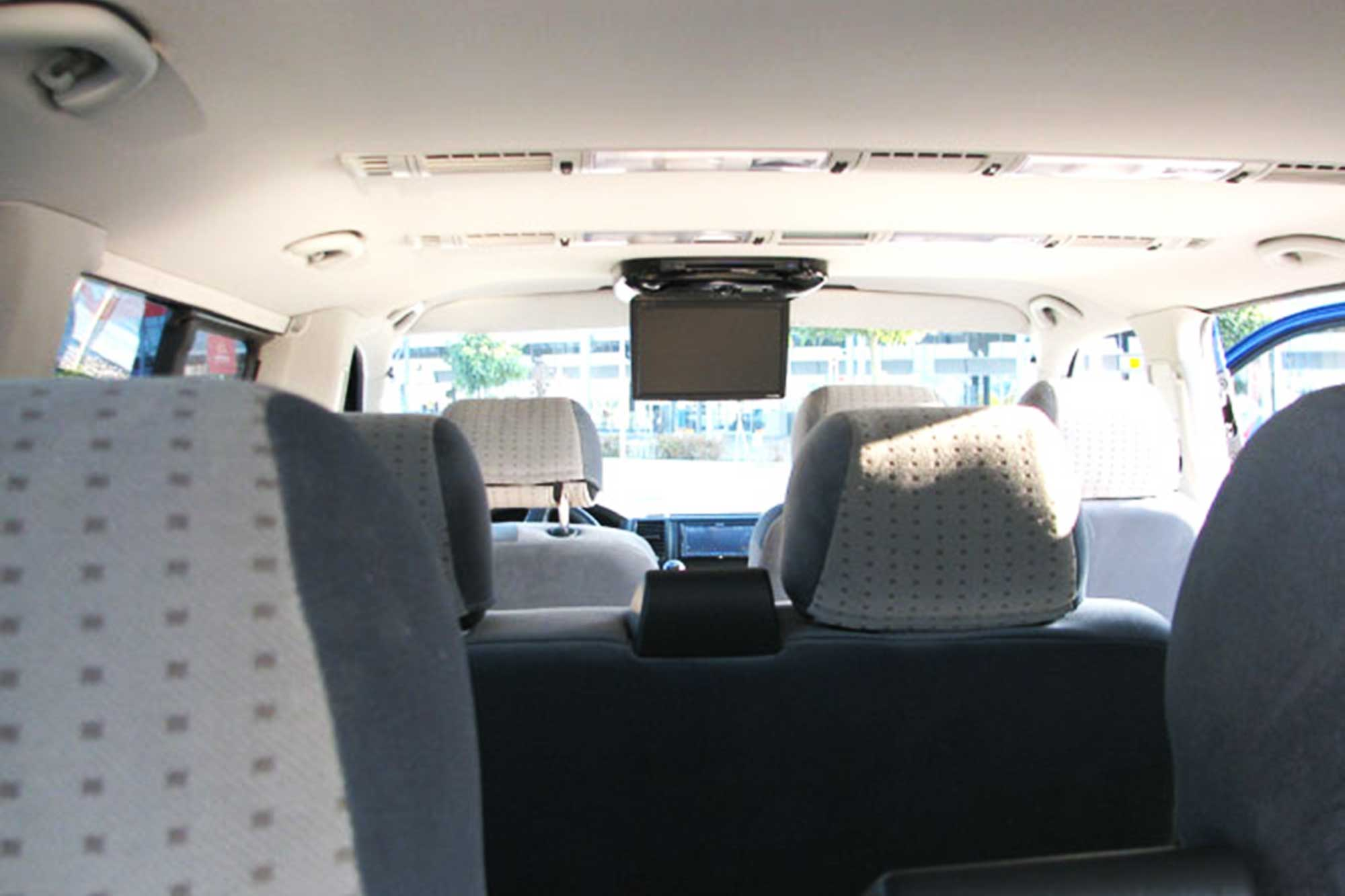 On board of the bus you will have an LCV with movie and comfortable seats.
