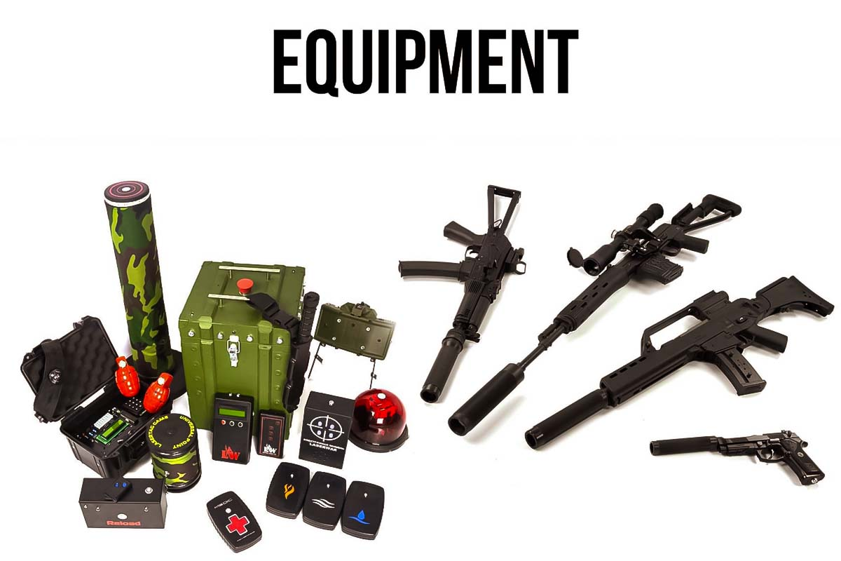 Take a look at the equipment you will use during the Laser Tag activity in Poznan.
