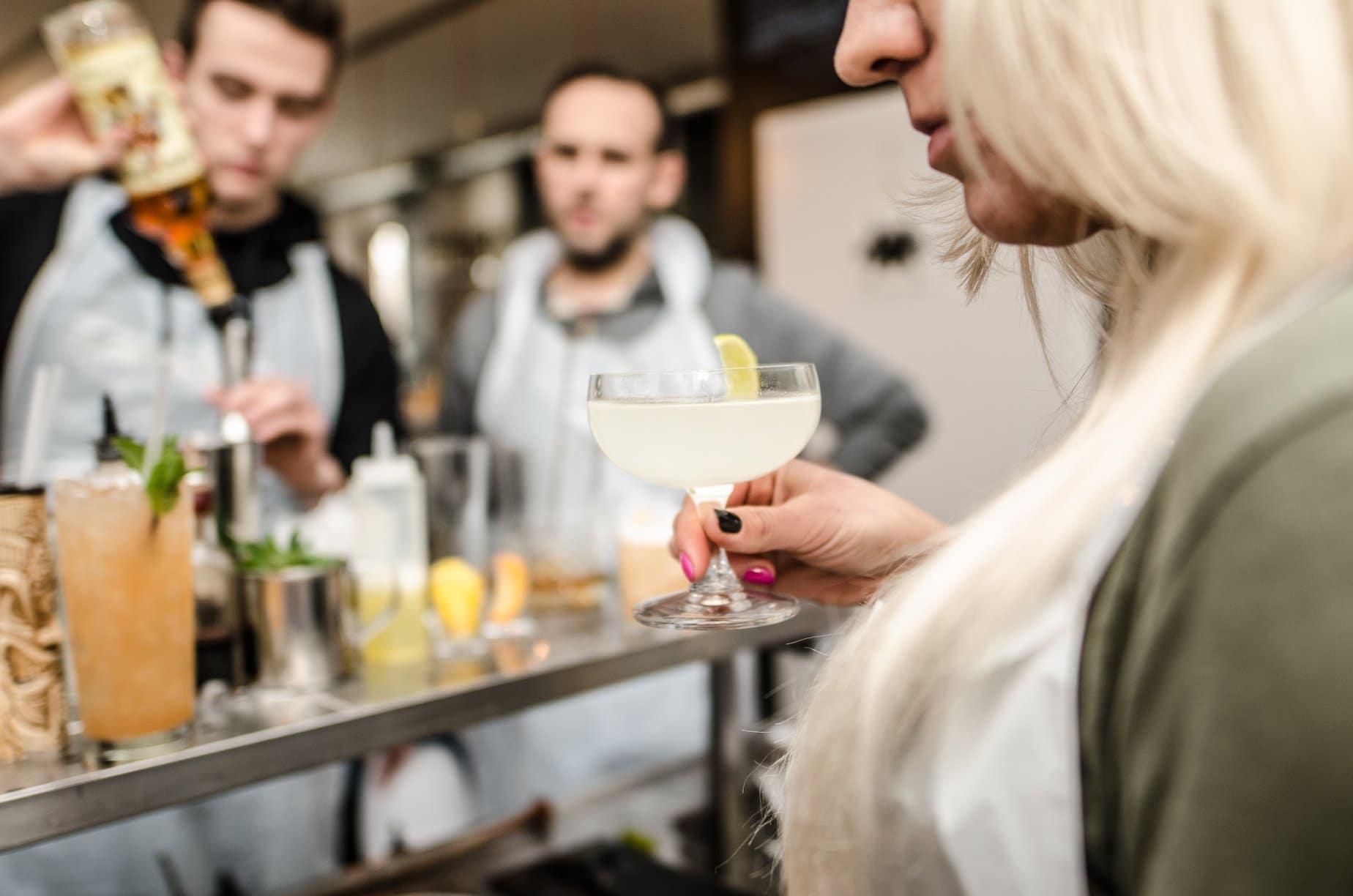 Drink making at Gdansk Cocktail Workshop